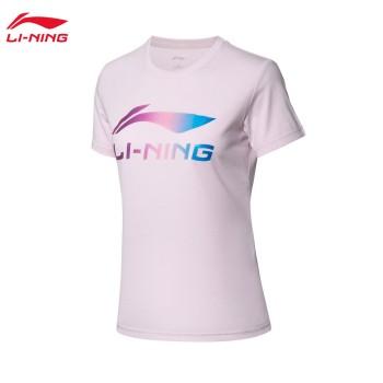 Lining 李宁 运动时尚系列女子短袖文化衫AHSP302