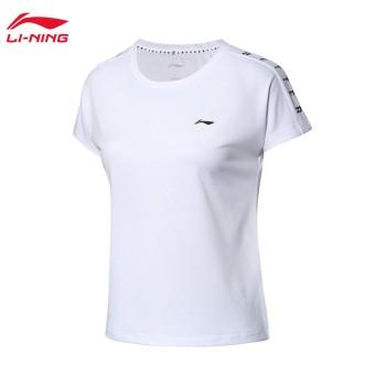 Lining 李宁 训练系列女子速干凉爽宽松短袖T恤ATSP084