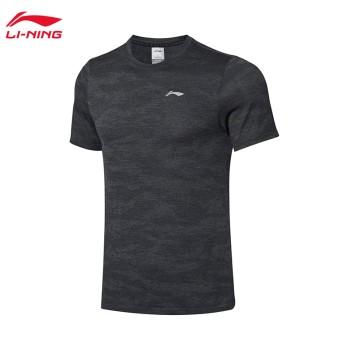 Lining 李宁 跑步系列男子速干凉爽短袖T恤ATSP135