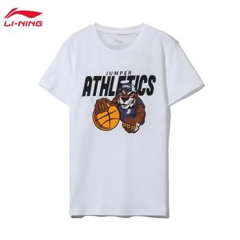 Lining 李宁 男小大童运动时尚系列短袖文化衫YTSQ017