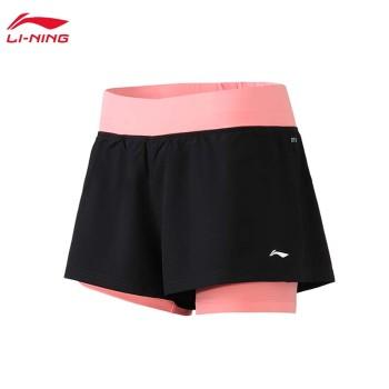 Lining 李宁 训练系列女子宽松运动短裤AKSP132