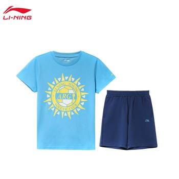 Lining 李宁 男小大童足球系列短袖套装YWBP007