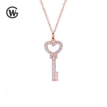 GW 925纯银Key 钥匙项链锁骨链 NET1665