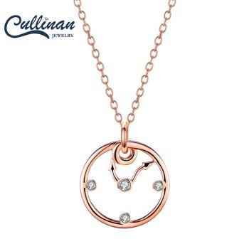 Cullinan 天玺 Clock时钟925银镀玫瑰金吊坠项链