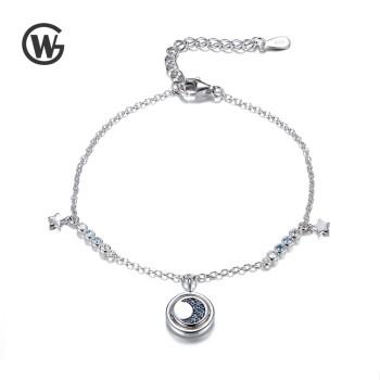 GW 925纯银轻奢饰品气质星星月亮个性情侣手链 YL548-7