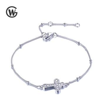 GW 925纯银Cross 十字架手链 YL735
