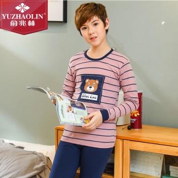 俞兆林 男大童青少年款棉质内衣套装男童打底内穿秋衣秋裤 JT-2020nan