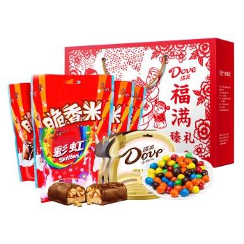 【特产】德芙 福满臻礼1049g 巧乐力糖果大礼包