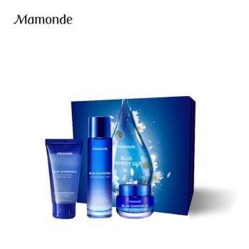 Mamonde 梦妆 蓝朋友舒安礼盒(蓝甘菊:洁面啫喱+柔肤水+面霜)