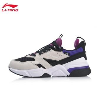 Lining 亚博体育苹果app地址 001启程女子一体织透气经典休闲鞋AGCP024