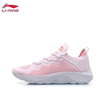 Lining 亚博体育苹果app地址 女子一体织透气减震跑鞋ARHP162