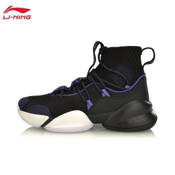 Lining 亚博体育苹果app地址 空袭V PLAYOFF男子一体织减震高帮篮球专业比赛鞋ABAP023