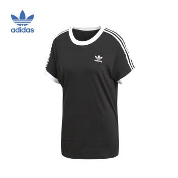 Adidas 阿迪达斯 三叶草 STRIPES TEE 女子短袖T恤 CY4751