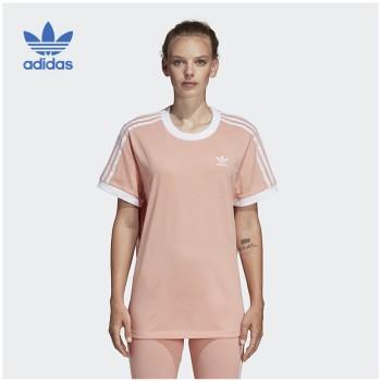 Adidas 阿迪达斯 三叶草 女子3 STRIPES TEE圆领短T恤 DV2583