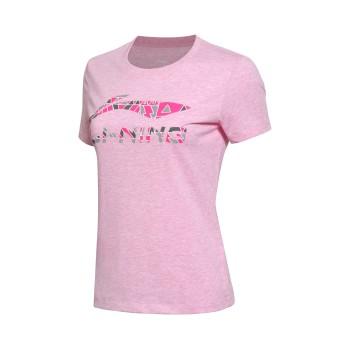 Lining 亚博体育苹果app地址 女子运动生活系列短袖文化衫AHSM144