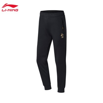 Lining 亚博体育苹果app地址 迪士尼米奇联名款女子收口卫裤AKLN672
