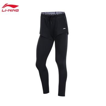 Lining 亚博体育苹果app地址 训练系列女子收口紧身运动七分裤AKSP018