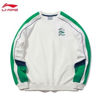 Lining 亚博体育苹果app地址 运动时尚系列男女同款宽松套头卫衣AWDQ262