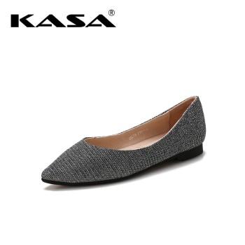 KASA 卡萨 闪光布革百搭悠闲低跟平底女鞋 K8319