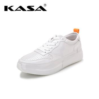 KASA 卡萨 牛皮革透气百搭简约休闲女鞋 K8341