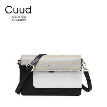 Cuud 古伊西 优雅多色拼接通勤女士斜挎包 CXBI1270/1