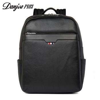 DANJUE 丹爵 头层牛皮男士商务旅行电脑双肩包 D8121