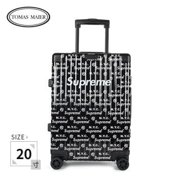 TomasMaier X Supreme NYC 托马斯迈尔 铝镁合金海关锁拉杆箱20寸 03720