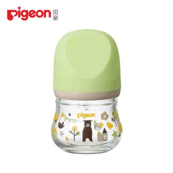 Pigeon 贝亲 婴儿宽口径臻宝玻璃奶瓶80ml
