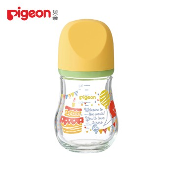 Pigeon 贝亲 婴儿宽口径臻宝玻璃奶瓶160ml
