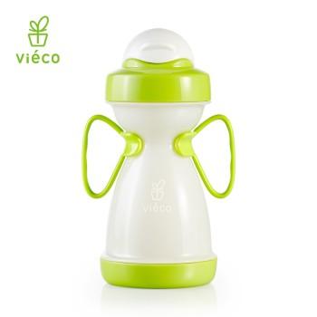 vieco绿糖 法国进口植物宝宝吸管杯 带手柄防漏婴儿学饮杯喝水杯 330ml