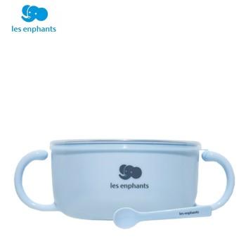 Les enphants 丽婴房 不锈钢隔热碗620ml(附勺子)