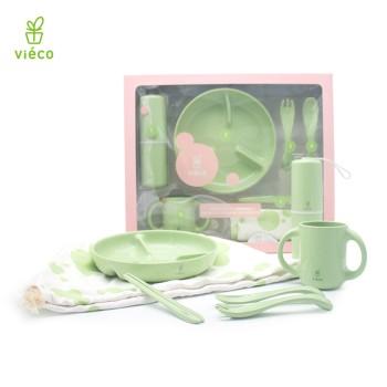 vieco 绿糖 儿童植物材质幼童成长餐具套装(五件套)