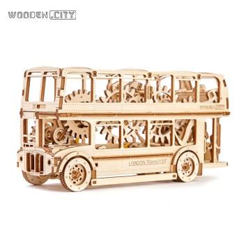 WOODEN.CITY 木制机械传动儿童拼装模型-伦敦巴士 WR 303