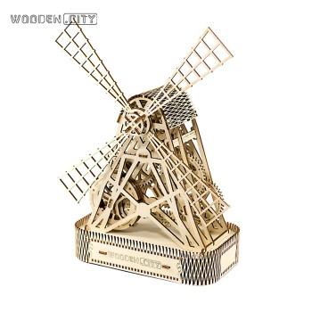 WOODEN.CITY 木制机械传动儿童拼装模型-风车 WR 307