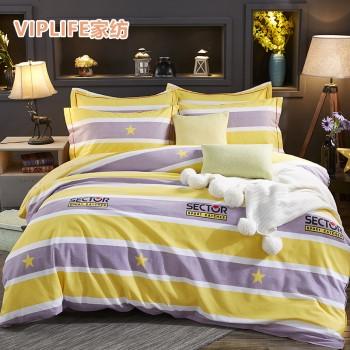 VIPLIFE 加厚款全棉生态磨毛床笠四件套 1.5米