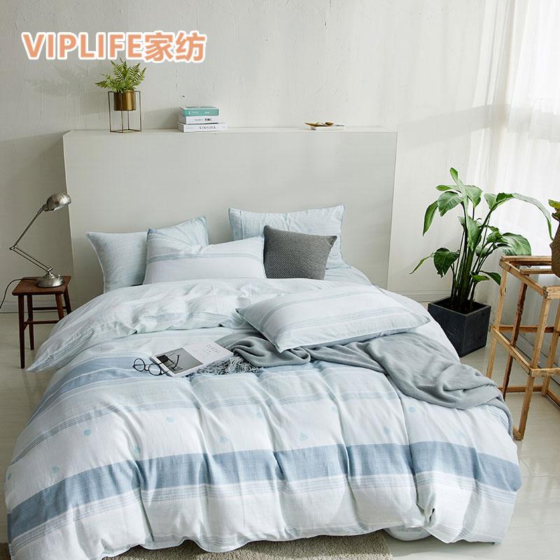 VIPLIFE 26℃双层有氧纱全棉床单四件套 1.5米床