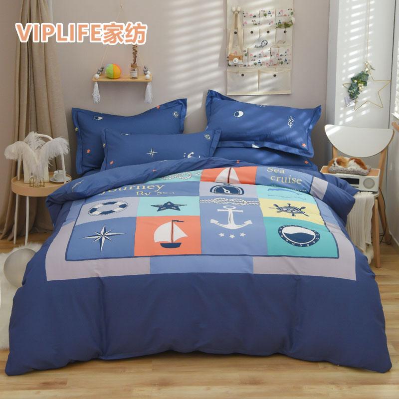 VIPLIFE [大版卡通系列]全棉床笠四件套 1.5米床