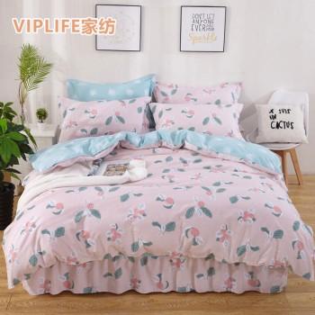 VIPLIFE [床裙系列]全棉床裙四件套 1.5米床