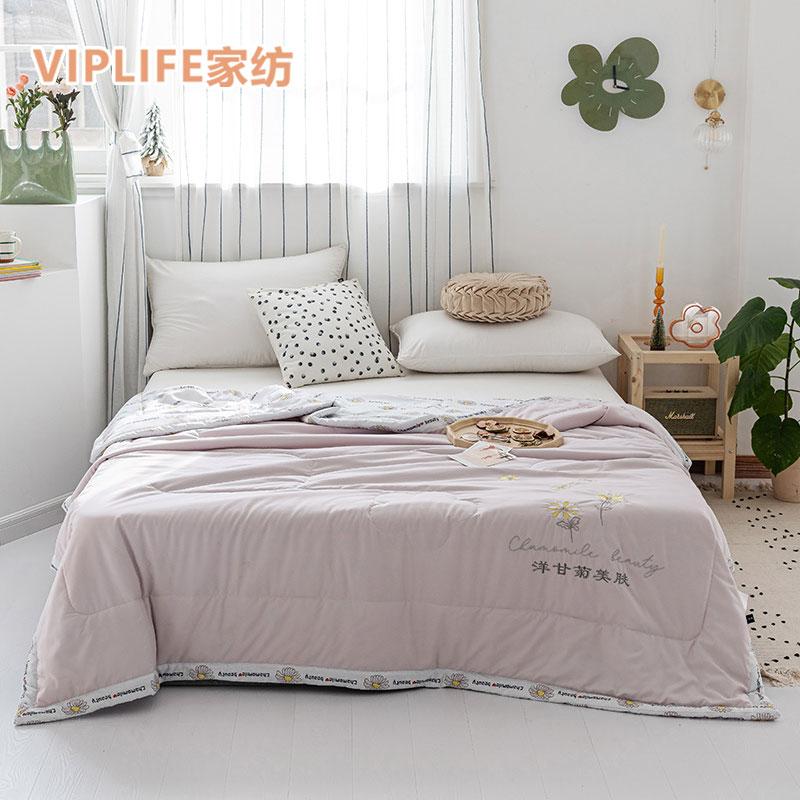VIPLIFE 亲肤舒氧棉绣花夏被空调被四季被 200*230cm