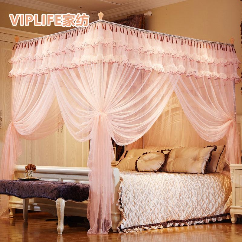 VIPLIFE [落地蚊帐-解语花系列]不锈钢落地公主蚊帐1.5米床