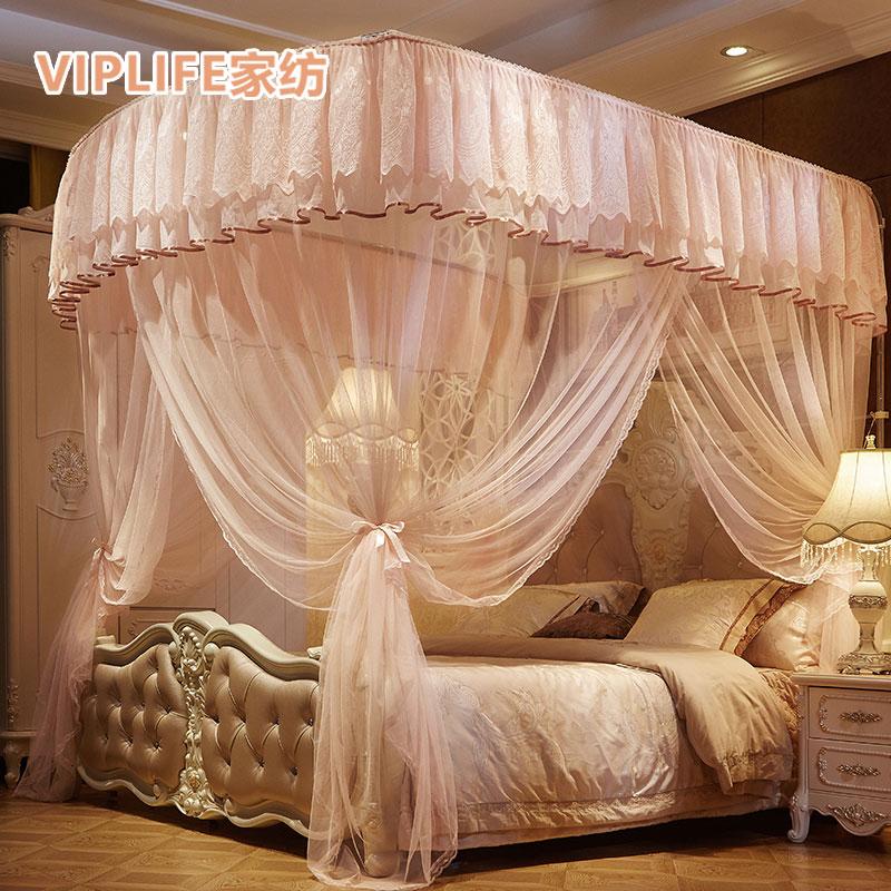VIPLIFE [一帘幽-钓鱼竿系列]加宽加厚款落地蚊帐1.8米床
