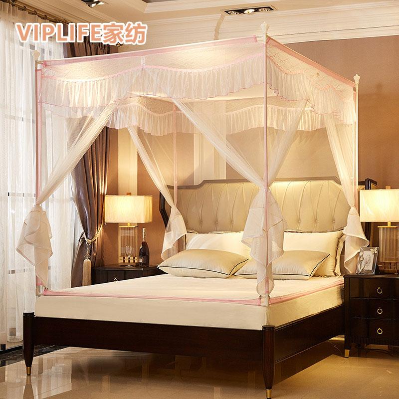 VIPLIFE [芭莎系列]免安装三开门宫廷蚊帐1.2米床