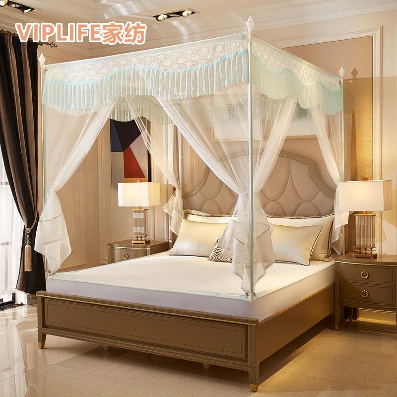 VIPLIFE [白凝系列]免安装三开门宫廷蚊帐1.5米床