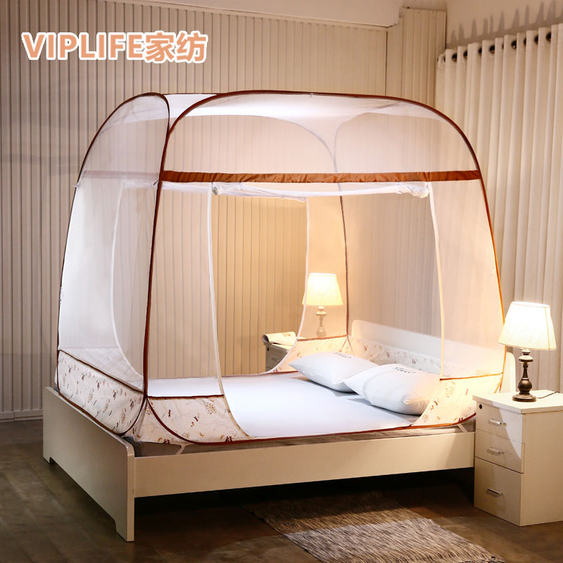 VIPLIFE [北欧系列]免安装三开门大方顶蚊帐1.2米床