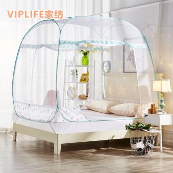 VIPLIFE [花鸟系列]免安装三开门大方顶蚊帐1.8米床