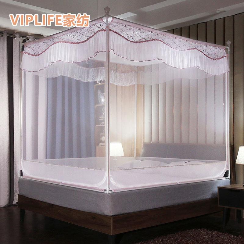 VIPLIFE [霓裳系列]免安装三开门宫廷蚊帐1.8米床