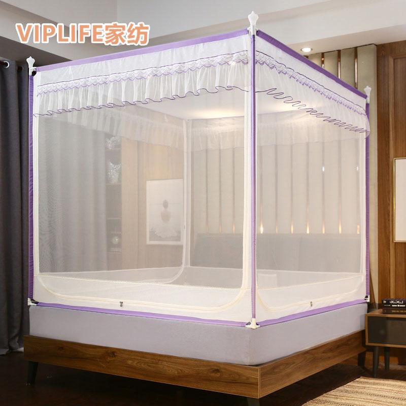 VIPLIFE [夏露系列]免安装三开门宫廷蚊帐1.2米床