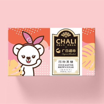 【积分】广百熊CHALI茶里四物黑糖盒装