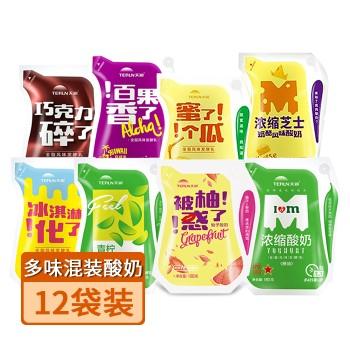 【亚博下载地址】新疆天润 多味混装酸奶180g*12袋装